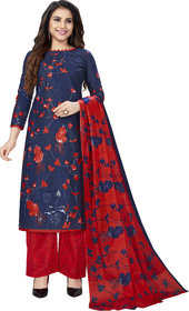 Drapes Women's Multicolor Cotton printed Dress Material (Unstitched) DF2599