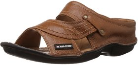 Red Chief Tan Men Casual Leather Slip-on Sandal (RC0248)