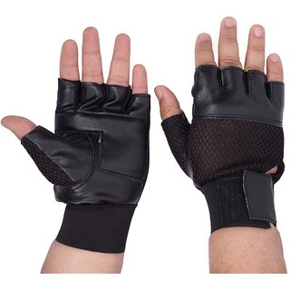 Leather Gym Gloves for Gym  Bike riding