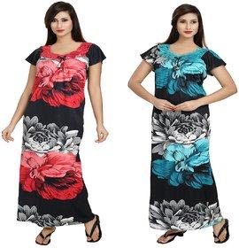 DILJEET Women's Night Gowns Combo