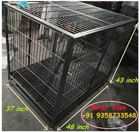 Dog Cage 48 inch - Good for Large Breed Dogs - Heavy  Strong