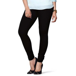 Dolly High Quality Ultra Soft Super Combed Stretchable 4 Way Lycra Black Legging For Women Under 200 Ankle Length Size
