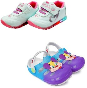 AFFIX  ENTERPRISES Shoes Kids Unisex LED Shoes  Clogs Combo  3.5-4 Years