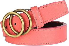 SUNSHOPPING Women Pink Casual Synthetic Belt