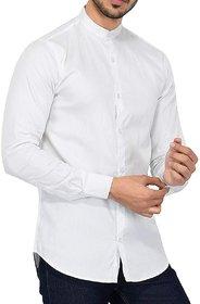 Singularity Clothing Chinese Collar Shirt in White