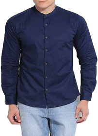 Singularity Clothing Chinese Collar Shirt in Navy