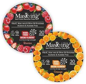 Nail Polish remover Pack Of-2 -Berries+Orange