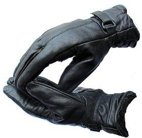 Carpoint Black Winter Bike Riding Gloves Set of 1
