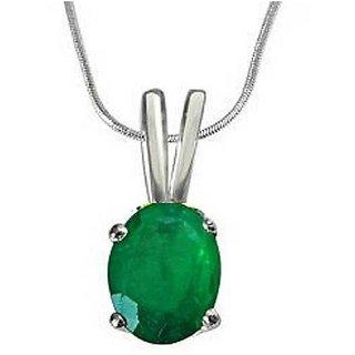 RATAN BAZAAR-Silver Emerald Stone Pendant High Qulity 5.25 Ratti