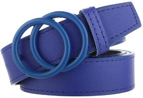 SUNSHOPPING Women Royal Blue Casual Synthetic Belt