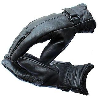 zaptos  Full Finger Gloves For Riders,Bikers Black Riding Gloves  (Black)