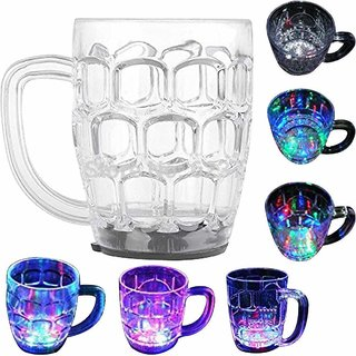 Plastic Cup with LED Light - 1 Piece, Multicolour, 250 ml