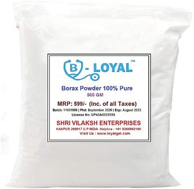 Loyal Borax Powder, 100 Pure with Whitening  Cleaning Power (500 GM, White)