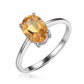 Yellow Sapphire Stone 7.25 Ratti Adjustable Silver Ring for Men  Womenby Ratan Bazaar