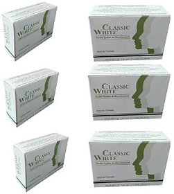 Classic White Advance Formula Whitening Soap For Anti Acne Skin (Pack Of 6)