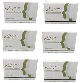 Classic White Soap For Anti Pimple Skin And Anti Tan Skin (Pack Of 6)  (6 x 85 g)