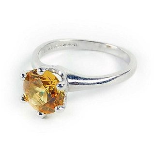 Yellow Sapphire Ring Natural Unheated Stone 9.25 CaratBy Ratan Bazaar