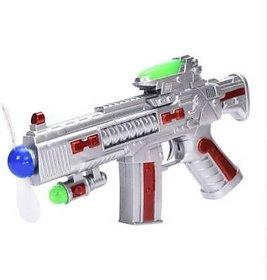 Universal Space Gun Toy Rotating Blades Guns  Darts  (Multicolor) Silver