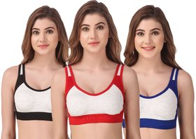 Sport Bra for Gymwear and Regular Use Pack of 3