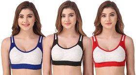 Gymwear Sport Bra for Women and Girls Pack of 3