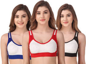 Stylish Sport Bra for Exercise for Girls and Women Pack of 3