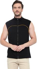 Glito Black Sleeveless Fashionable Sweat Shirt