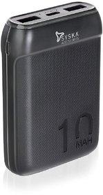Syska P1016B-BK Power Pocket100 10000 mAh Power Bank (Fast Charging)(Black, Lithium Polymer)