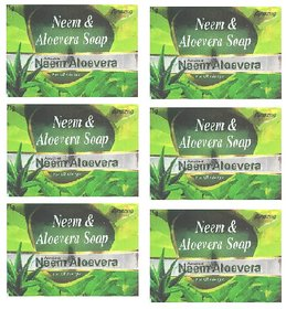 Amazing Neem  Aloevera Soap For All Skin Type Pack of - 6