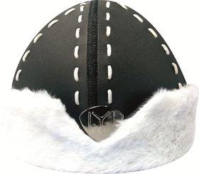 Ertugrul Ghazi Cap (Black  White ) Winter, Mens