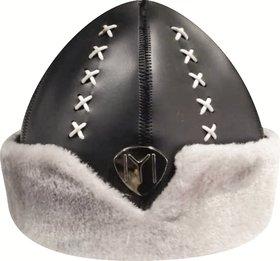 Ertugrul Ghazi Cap , One Mask Free ( Black Grey ) Winter