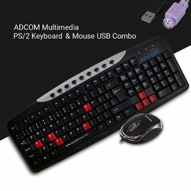Adcom Combo AM2525 Keyboard PS/2  USB Mouse -(Only for Computers/Desktop Connectivity)