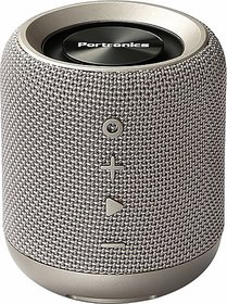 Portronics POR-821 SoundDrum Stereo 10 W Bluetooth  Speaker (Grey, Stereo Channel)