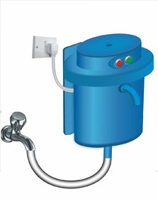 Greendot instant water geyser, water heater - GC-1.5 LTR Fitted with ISI Heating Element with Complete Accessories