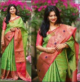 Hue Banarasi Silk Saree