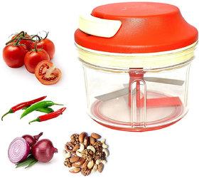 Sadev Apex Hand-Powered Food Chopper, Turbo Chop Chopper/Manual Food Processor with Cord Mechanism, Set of 1, Cherry