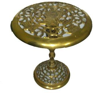 METALCRAFTS Brass Side Table / Stool, jali work, folding, 12 inch , 30 cm