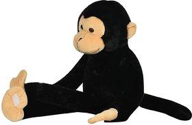 Mirada Cuddly Plush 52cm Hanging Monkey Soft Toy - Black
