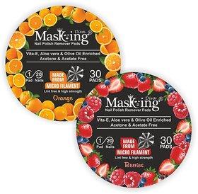 Nail Polish remover Pack Of-2 -Orange+Berries