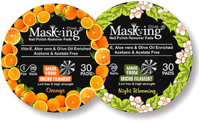 Nail Polish remover Pack Of-2 -Orange + Night Blooming