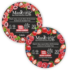 Nail Polish remover Pack Of-2 -Litchi + Berries