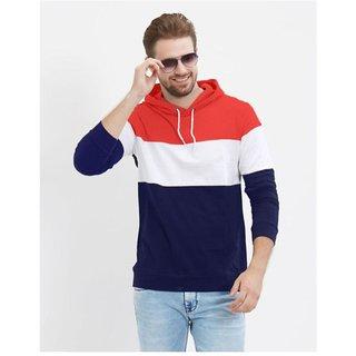 Mens Full Sleeve Hooded Casual T-Shirt For Men
