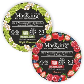 Nail Polish remover Pack Of-2 -Night Blooming +Berries