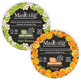 Nail Polish remover Pack Of-2 -Night Blooming +Orange