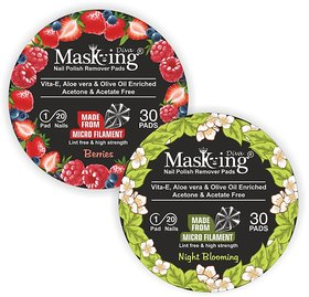 Nail Polish remover Pack Of-2 -Berries+Night Blooming