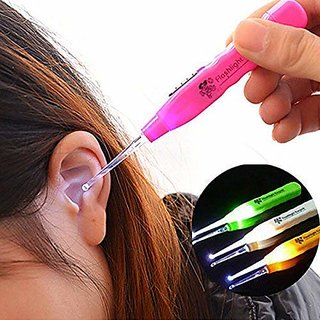 NITLOK Ear Pick LED Light Earwax Cleaning and Removal Tool (Multicolor, Pack of 2)