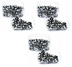 Indirang Pack of 3 Black Bindi size 3.5mm