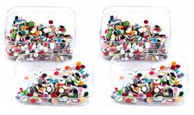 Indirang Pack of 2 Colorful Bindi size 3.5mm