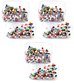 Indirang Pack of 3 Colorful Bindi size 3.5mm