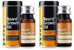 Ustra  Beard Growth Oil - 70 ml Pack of 2
