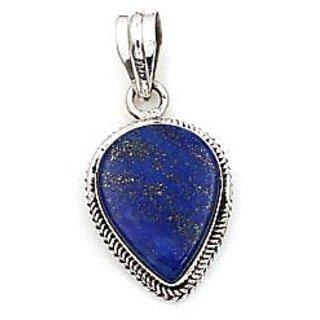 silver Lapis Lazuli Pendant 11.5 ratti Locketwithout chain by ratan bazaar